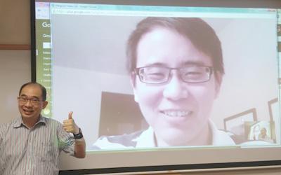 Guest lecture was done via Google Hangouts