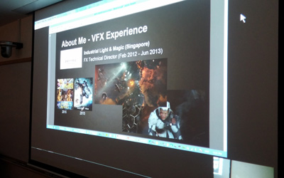 Sharing my VFX experience with the class