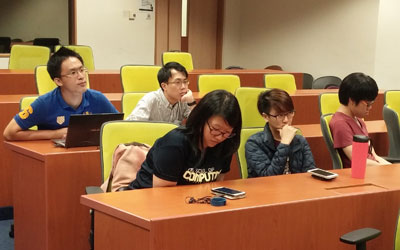 Some of the students in the class (photo showing only part of the room)