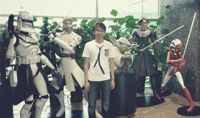 Photo with Yoda and the other Clone Wars characters