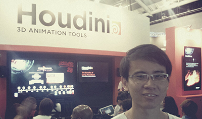At the SIGGRAPH Asia 2012 Houdini booth