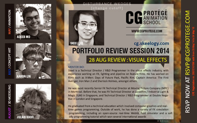 Promotional flyer for the series of monthly portfolio review sessions