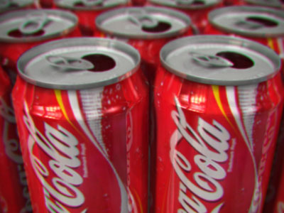 Coke cans galore!