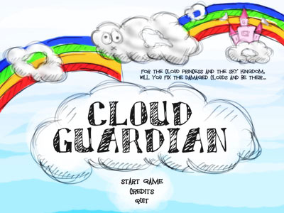 The title screen of Cloud Guardian