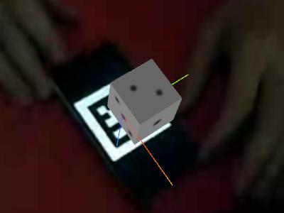 Coordinate system in JSARToolKit: left-handed, -Z up