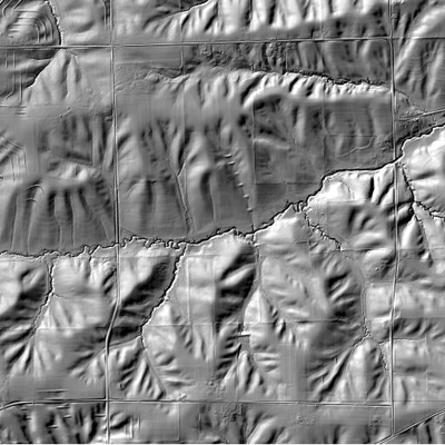 Example greyscale terrain map obtained from IGMS