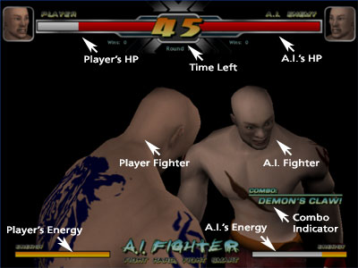 The interface of A.I.Fighter