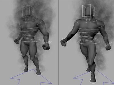 Animation of creature via pose-by-pose keyframing