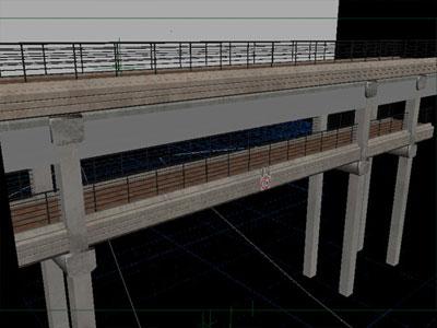 The bridge model with texture