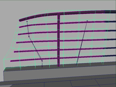 Deforming the railings using FFDs and smooth bind
