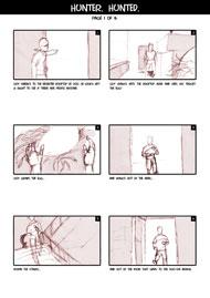 Hunter Hunted Storyboard Page 1