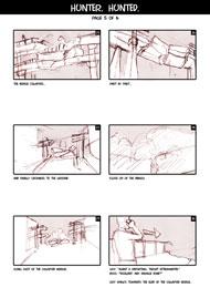 Hunter Hunted Storyboard Page 5