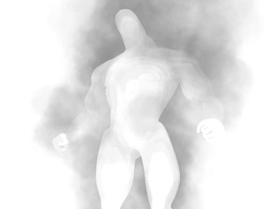 Mask Layer: This is the same as the smoke layer but with the creature as a mask. This layer is composited on top of the smoke layer so that the creature can appear translucent.