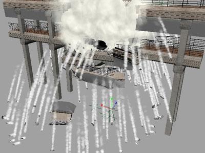 Dust and smoke simulation