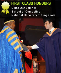 First Class Honours in Computer Science