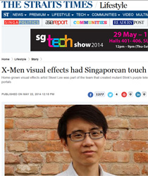 Interviewed by The Straits Times for X-Men: Days of Future Past